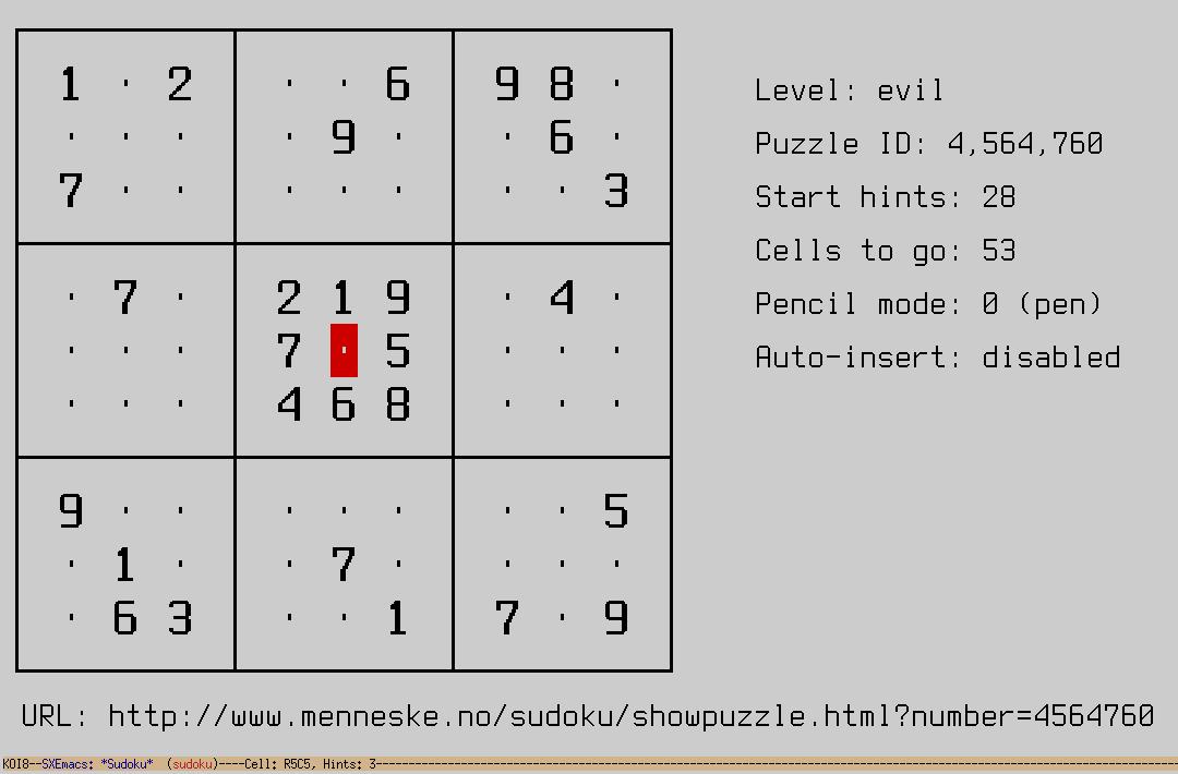 sudoku-mode